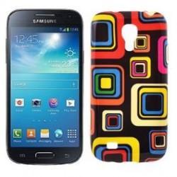Silikon etui za Samsung Galaxy S4 Mini +Folija ekrana, Motiv Colored Squares