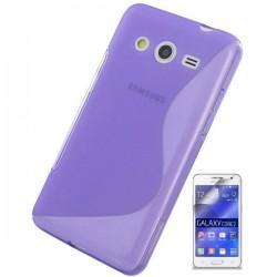 Silikon etui za Samsung Galaxy Core 2 +Folija ekrana, Vijola