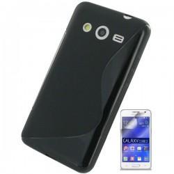 Silikon etui za Samsung Galaxy Core 2 +Folija ekrana, Črna