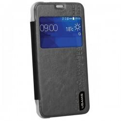 Torbica USAMS za Samsung Galaxy Core 2, S-View, Črna barva