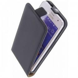 Preklopna torbica Flexi za Samsung Galaxy Core 2+ Zaščitna folija, Črna barva