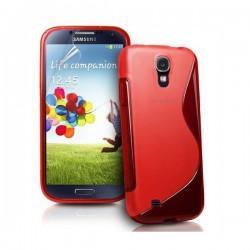 Silikon etui za Samsung Galaxy S4 +Folija ekrana, Rdeča barva