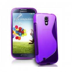 Silikon etui za Samsung Galaxy S4 +Folija ekrana, Vijola barva