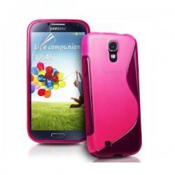 Silikon etui za Samsung Galaxy S4 +Folija ekrana, Pink barva