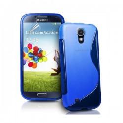 Silikon etui za Samsung Galaxy S4 +Folija ekrana, Modra barva