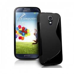 Silikon etui za Samsung Galaxy S4 +Folija ekrana, Črna barva