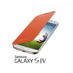 Torbica za Samsung Galaxy S4 Flip Cover EF-FI950BOEGWW, Oranžna barva