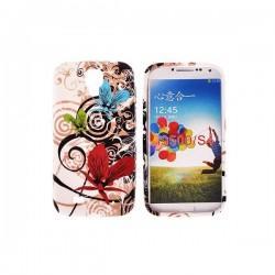Silikon etui za Samsung Galaxy S4 +Folija Gratis, Red Flowers