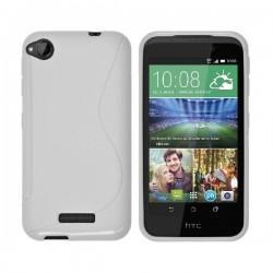 Silikon Etui za HTC Desire 320, Bela barva, priložena folija ekrana