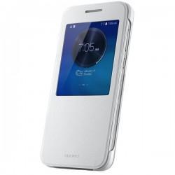 Etui Huawei za Huawei Ascend G7, S-View, Bela barva