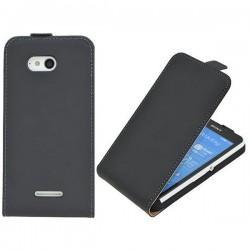 Preklopna Torbica za Sony Xperia E4g, Črna barva