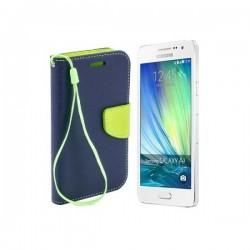 Preklopna Torbica Fancy za Samsung Galaxy A3, Modra barva