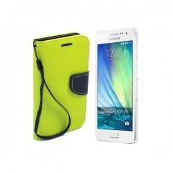 Preklopna Torbica Fancy za Samsung Galaxy A3, Limona barva