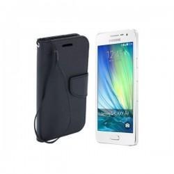 Preklopna Torbica Fancy za Samsung Galaxy A3, Črna barva