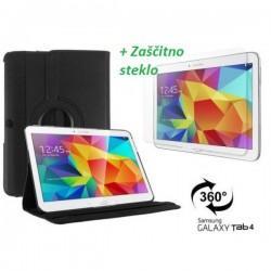 Torbica za Samsung Galaxy TAB 4 10.1+ Zaščitno steklo, Črna barva