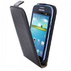 Preklopna Torbica za Samsung Galaxy Core +Zaščitna folija, Črna barva