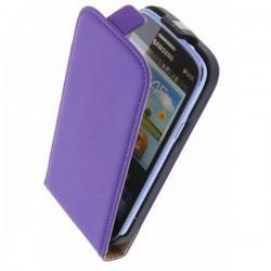 Preklopna Torbica za Samsung Galaxy Core +Zaščitna folija, Vijola barva