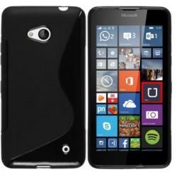 Silikon Etui za Microsoft Lumia 640 LTE, Črna barva+ Priložena folija ekrana