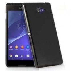 Silikon etui za Sony Xperia M4 Aqua, Črna barva, priložena folija ekrana