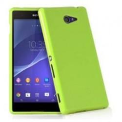 Silikon etui za Sony Xperia M4 Aqua, Zelena barva, priložena folija ekrana