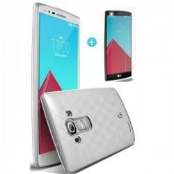 Silikonski Etui za LG G4 Prozoren TPU 0,3mm+ folija ekrana