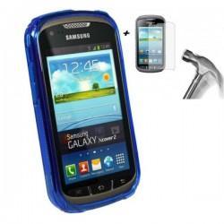 Silikon Etui za Samsung Galaxy Xcover 2+ priloženo zaščitno steklo