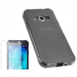 Silikon etui za Samsung Galaxy Xcover 3, Prozoren, 0,3mm+ folija ekrana