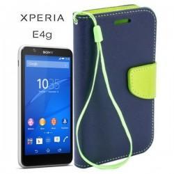 Torbica Fancy za Sony Xperia E4g, Modra barva