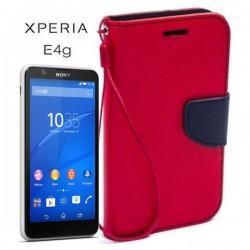 Torbica Fancy za Sony Xperia E4g, Rdeča barva