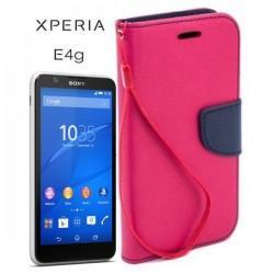 Torbica Fancy za Sony Xperia E4g, Pink barva