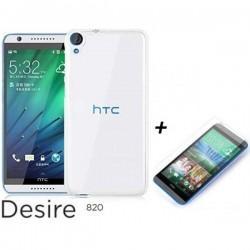 Silikon etui za HTC Desire 820, Prozoren+ Zaščitno steklo