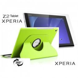Torbica za Sony Xperia Z2 Tablet, Vrtljiva 360+ Folija ekrana, Zelena barva