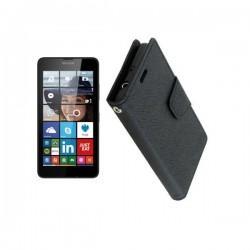 Torbica Fancy za Microsoft Lumia 640 LTE, Črna barva