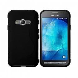 Silikon etui za Samsung Galaxy Xcover 3, Črna barva+ folija ekrana