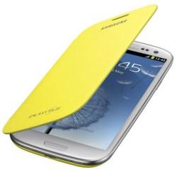 Torbica za Samsung Galaxy S3, Flip Cover Samsung EFC-1G6F, Rumena