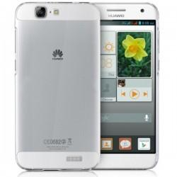 Silikonski etui za Huawei Ascend G7 Silikon+ Folija ekrana, 0,3mm, Prozorna barva