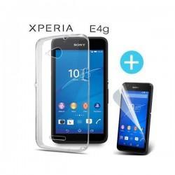 Silikonski etui za Sony Xperia E4g+ Folija ekrana, 0,3mm, Prozorna barva