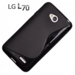 Silikon etui za LG L70, Črna barva