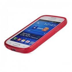Silikon etui za Samsung Galaxy Trend Lite, Rdeča barva