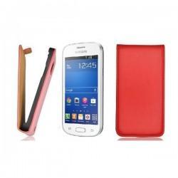 Torbica za Samsung Galaxy Trend Lite Preklopna+ folija ekrana, Rdeča barva