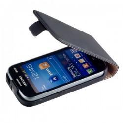 Torbica za Samsung Galaxy Trend Lite Preklopna+ folija ekrana, Črna barva