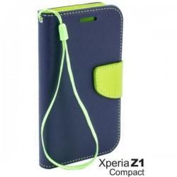 Preklopna Torbica Fancy za Sony Xperia Z1 Compact, Modra barva