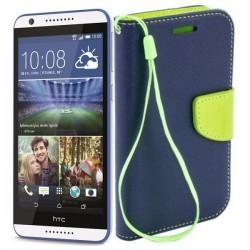 Preklopna Torbica Fancy za HTC Desire 820, Modra barva