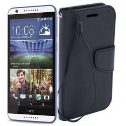 Preklopna Torbica Fancy za HTC Desire 820, Črna barva