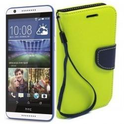 Preklopna Torbica Fancy za HTC Desire 820, Zelena barva