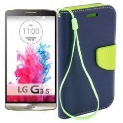 Preklopna Torbica Fancy za LG G3 S, Modra barva
