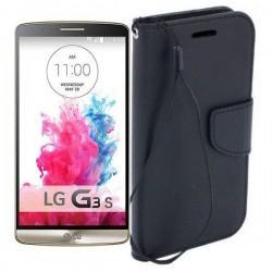 Preklopna Torbica Fancy za LG G3 S, Črna barva