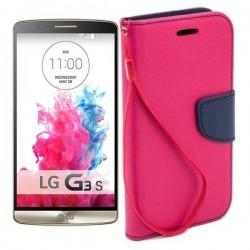 Preklopna Torbica Fancy za LG G3 S, Pink barva