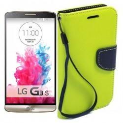 Preklopna Torbica Fancy za LG G3 S, Zelena barva