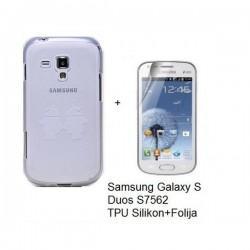 Silikon etui Nillkin za Samsung Galaxy S Duos, Galaxy Trend +Folija, vzorec